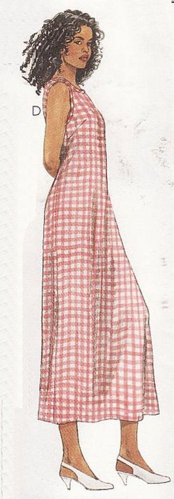 Misses Summer Office Work Pullover Aline Scoop Neck 1 Hr. Dress Sew Pattern 8-12