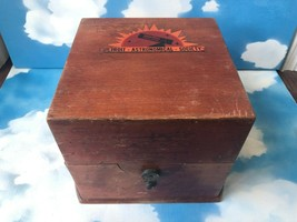 VTG WWII Watch Clock Ship Marine Chronometer Outer Wood Box - $189.05