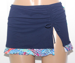 NEW Profile by Gottex Navy Ruffled Skirted Swim Bikini Bottom 10 E6211P92 - $15.79