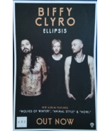 "BIFFY CLYRO 'Ellipsis' 11"" X 17"" Double-Sided Promo Poster, New - $10.95"