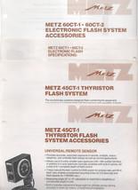METZ  Brochures 45 Ct-1,60CT-1, 60CT-2, - $4.00