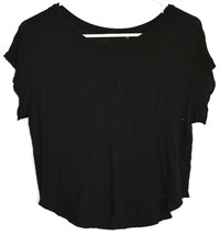 Brandy Melville Solid Black Modal Loose Fit Short Sleeve T-Shirt One Size