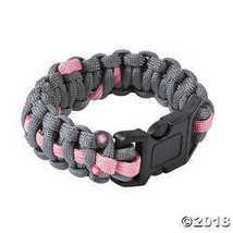 Women's Pink Ribbon Paracord Bracelets  - $11.49