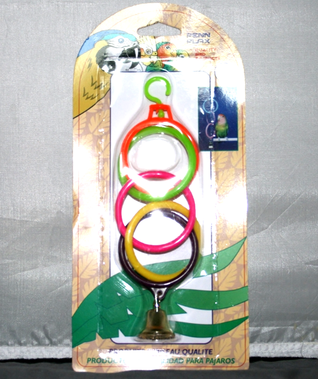 Penn Plax Super Olympic Rings w/Bell, Parakeet, Finch, Canary NIP  BA-525