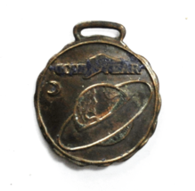 Vintage Goodyear Tire Ring Earth Enameled Bronze Fob Pendant 37mm Medal - $69.29