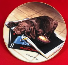 Larry Chandler Loveable Labs Collector Plate, Science Lab, Labrador Pup, Lenox - $44.97