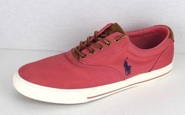 Polo Ralph Lauren Vaughn chambray herringbone suede sneakers shoes size ... - $21.11