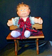 Cabbage Patch Doll sitting at a Large Wooden School Desk AA-191964  Collectible image 9
