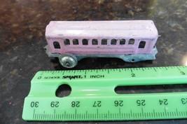Vintage Mini Train passenger car tiny pink tin toy box car  - $20.00