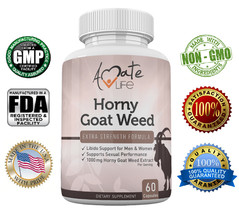 Amate Life Horny Goat Weed Dietary Supplements- Men & Women Libido Suppo... - $15.49
