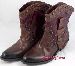 New in Box VINCE CAMUTO MADALISSA  RUSTIC Womens bOOTS Size 8.5 BRANDY/RUBY - $79.19