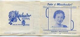 Machado Restaurante Tipico Lisbon Portugal 1955 Brochure Isto e Machado - $13.86