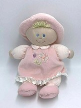 Toys R Us Pink Baby Doll Plush Blonde Yard Hair Butterfly Flower Dress Hat - $9.99