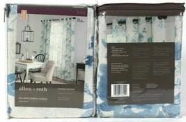 "(2) Allen & Roth 1085005 Lyla 52"" X 84"" Blue 94% Polyester Grommet Top P... - $40.58"