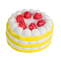 Yellow Squeeze toys Soft Stress Reliever Strawberry Cake Scented Super Slow - $9.68