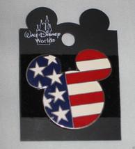 Disney Patriotic Mickey Mouse Head American Flag 2002 Trading Pin 23783 RARE NEW - $39.95