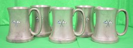 'Set of 5 Abercrombie & Fitch English Pewter Private Yacht Flag Mugs' - $750.00