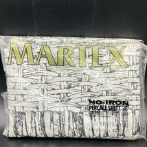 Vintage Martex Sheet Black White Full Fitted Basketweave Basket New OPEN... - $49.95