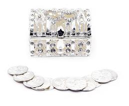 Silver Wedding Arras de boda Treasure Box Set with 13 Unity Coins STB01 - $25.20