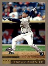 2000 Topps #375 Jeromy Burnitz Milwaukee Brewers - $0.99