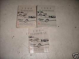 1986 Oldsmobile TORONADO Servizio Negozio Riparazione Manuale Set Fabbrica - $16.48