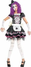 Amscan Damaged Doll Dress Mask Girls Cute Childrens Halloween Costume 844890 - $47.20