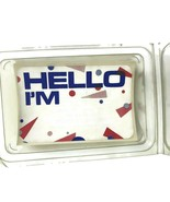 Pack Of Vintage 1980s Adhesive Name Badges Hello I'm For Theme Parties P... - $18.38