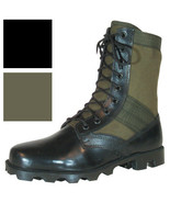 """Vietnam Jungle Boots, 8"""" Leather / Canvas, Panama Sole, Military Army Ta... - $36.99"""