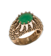 Ring 925 Sterling Silver Onyx Jewelry Vintage Beautiful India MB314DP - $206.48