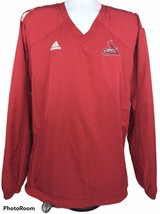 Adidas Mens Large Red MBA Louisville Cardinals Long Sleeve Pullover Jacket - $27.88
