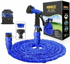 """Expandable Garden Hose Pipe 50FT with 3/4"""", 1/2"""" Fittings Flexible Spray... - $28.04"""