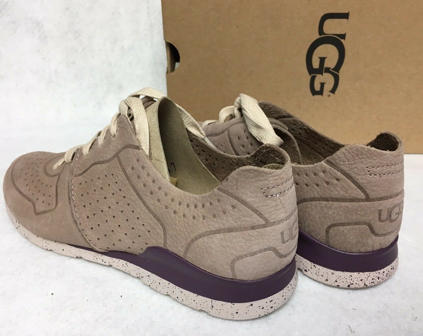 UGG Australia Tye Lace Up Leather Perforated Fashion Sneakers 1019057 Dusk image 9