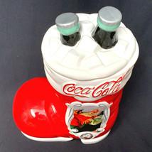 Houston Harvest Coca-Cola 75th Anniversary Santa Boot Cookie Jar #3983FY07 - $31.68