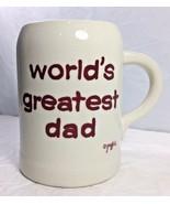 Worlds Greatest Dad Coffee Mug Fathers Day Large White Graffick 20 oz 80... - $16.82
