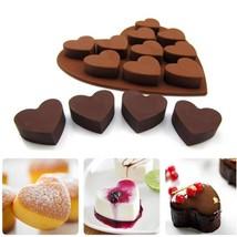 1pcs 9 cube Silicone ice lattices love hearts shape chocolate mold - $4.99