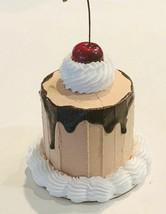 Fake Mini Cake Chocolate Drizzle Cherry Cake Dezicakes - $19.79