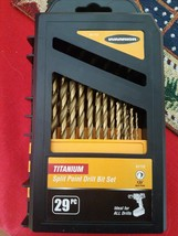 Warrior Titanium Nitride Split Point Drill Bit Set 29pc 61715 - New - $39.99