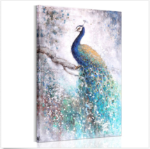 HD Canvas Prints Home Decor Wall Art Painting Picture-Beautiful Peacock ... - $11.49