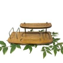 Vintage Farrington Wood Desk Valet Dresser Organizer 2 Tier Mid Century - $21.28