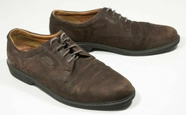 Ecco Suede Leather Brown Shoes Oxford Mens USA Sz 13 Eu Sz 47 Made in Sl... - $42.00