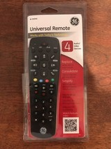 GE Universal Remote 4 Devices Black NEW TV remote control New (D) - $7.84