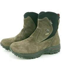 Merrell Men's Tundra Winter Boot Polartec Brown Suede Sz 8 Waterproof Gunsmoke - $51.07