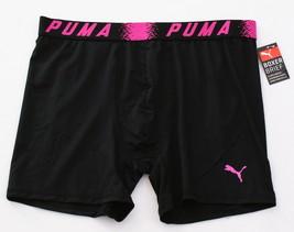 Puma Black & Pink Lightweight Stretch Boxer Brief Men's NWT - $22.49
