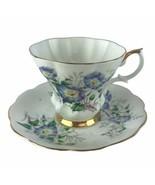 Vintage Royal Albert Friendship Morning Glory Tea Cup Saucer Set England U40 - $23.06
