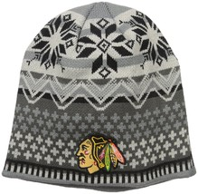 NHL Chicago Blackhawks Men's High Quality Acrylic Knit Embroidered Beani... - $12.19