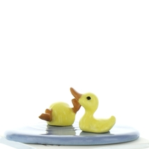 Hagen Renaker Bird Duck Baby Pond Ceramic Figurine Set image 3