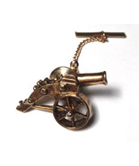 Authentic Vintage Civil War Cannon Metal Tie Pin - $68.31