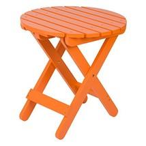 Shine Company 4108TA Adirondack Round Folding Table, Tangerine - $58.98