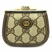 bafc9da42b12 Old Gucci purse Coin Purses vintage GG pattern GUCCI compact wallet leat...  -