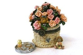 "Boyds Treasure Box ""Pinkie's Flower Basket w/ Rose McNibble"" #82527- NIB- 2003 - $24.99"